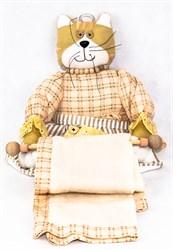 Кошка - держатель для полотенца 60см